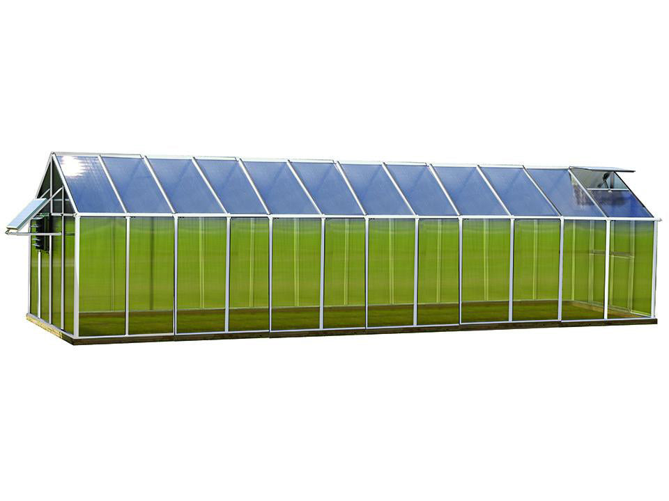 Aluminum Riverstone Monticello Greenhouse 8x24 - Mojave Package - full view - white background