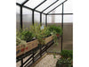 Image of Riverstone Monticello Greenhouse 8x24 - Premium Package - interior side view with plants