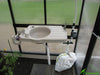 Image of Riverstone Monticello Greenhouse 8x8 - Premium Package - potting sink
