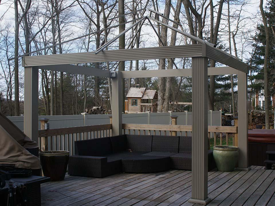 Acacia Gazebo with SunDura Canopy 12ft x 12ft Frame Only