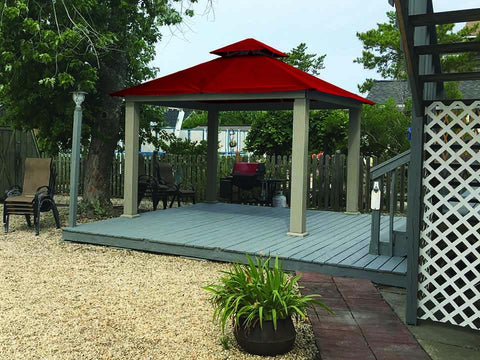 Image of Red Acacia Gazebo with SunDura Canopy