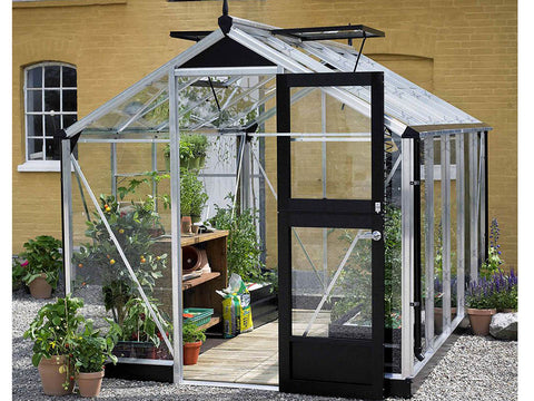 Image of 3 mm toughened glass Aluminum Juliana Compact Greenhouse 7ft x 12ft