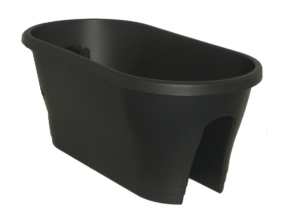 ELHO Oval Corsica Flower Bridge Planters - Set of 2 - Anthracite