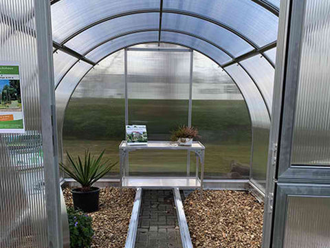 Image of Arcus 4 Greenhouse 10x13 - Open door - Front view