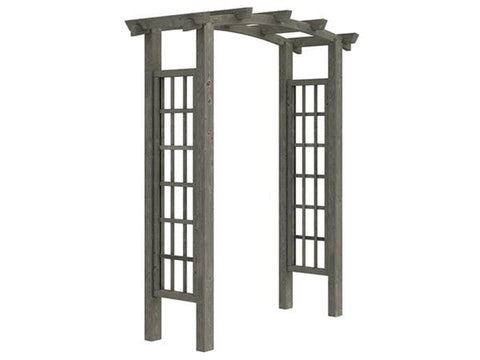 Image of Dove Grey Athena Wooden Garden Arbor with white background