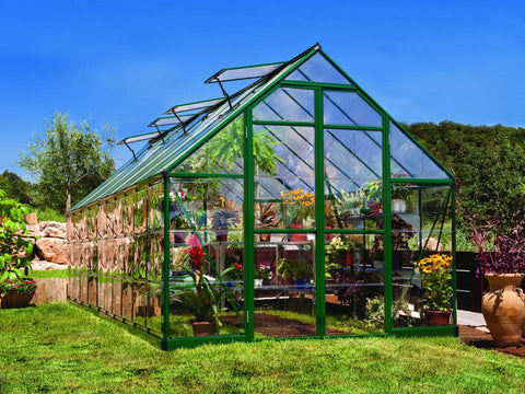 Image of Palram 8ft x 20ft Balance Hobby Greenhouse - HG6120G - in a garden