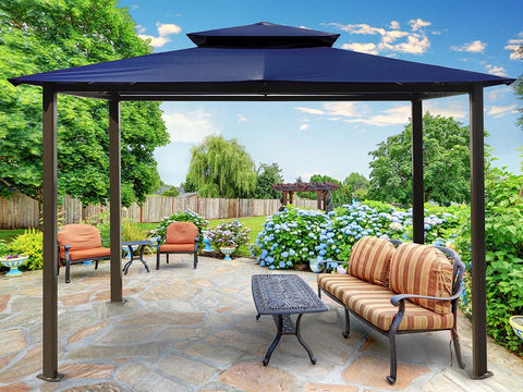 Barcelona Gazebo  with Navy Top