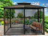 Image of Paragon Barcelona Soft Top Gazebo 10ft x 12ft with Grey Roof and Closed  Mosquito Netting