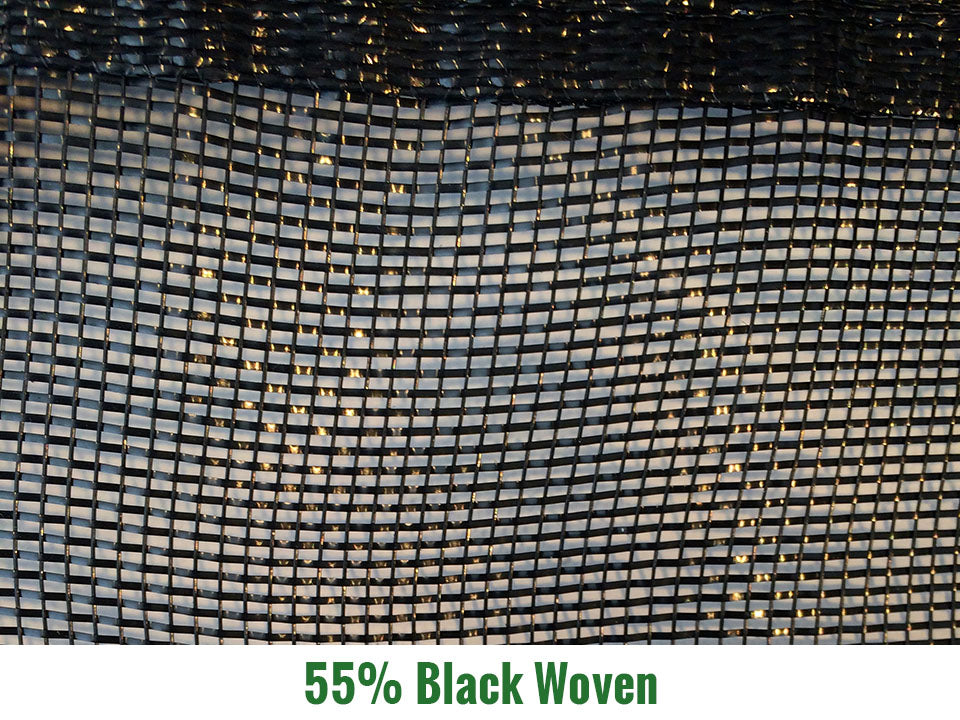 Riverstone 55% Black Woven Shade Cloth