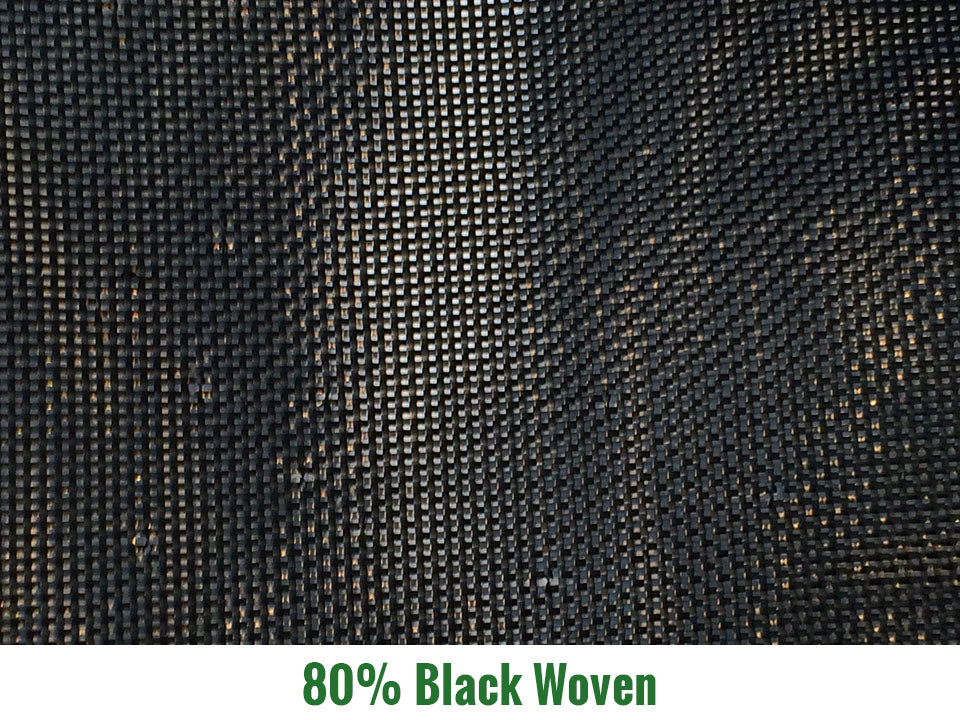 Riverstone 80% Black Woven Shade Cloth