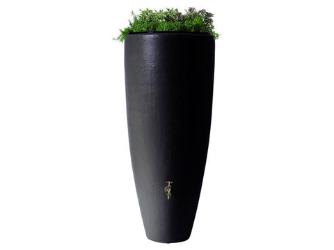 Image of Bullet Rain Barrel with Planter with white background