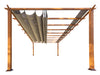 Image of Florence Aluminum Pergola With the look of Canadian  Wood  with Sand Canopy