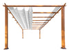 Image of Florence Aluminum Pergola With the look of Canadian  Wood  with White Canopy