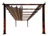 Image of Florence Aluminum Pergola With the look of Chilean  Wood  with Cocoa Canopy