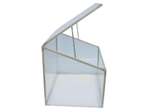 Image of Delta Park Single Cold Frame. Side View. Open Roof Panel