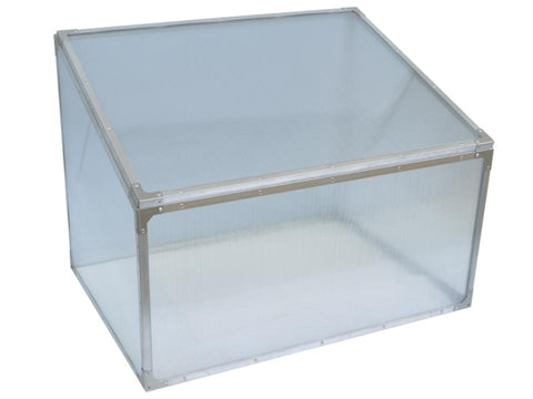 Image of Delta Park Single Cold Frame. Top view. Closed Roof panel.