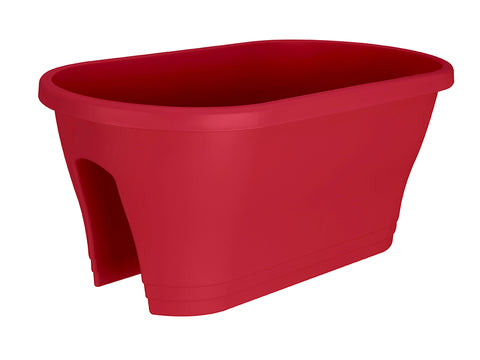 ELHO Oval Corsica Flower Bridge Planters - Set of 2 - Cranberry Red