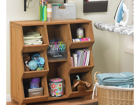 Storage Cubby Shelf with tools