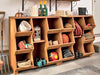 Image of Double Storage Cubby Shelf with tools