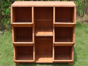 Empty Storage Cubby Shelf - front view