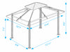 Image of Paragon Santa Cruz Soft Top Gazebo Dimensions
