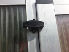 Installed Riga Sash-Lock on a door