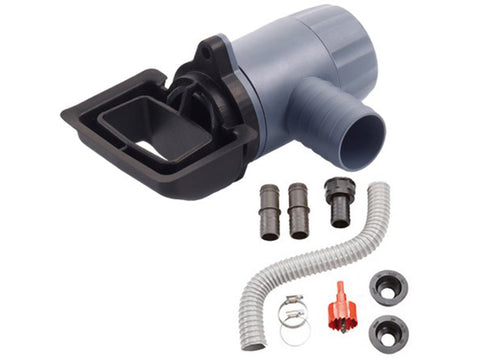 Rectangular Universal Rain Barrel Downspout Connection Kit