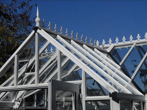 38° roof slope of EOS Royal Antique Victorian 13ft x 13ft
