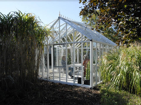 Side view of EOS Royal Antique Victorian 13ft x 13ft in a garden