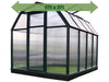Image of Rion 6ft x 8ft EcoGrow 2 Twin-Wall Greenhouse - HG7008 - full view - green arrow on top - white background