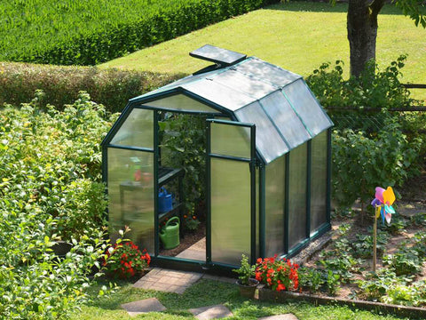 Image of Rion 6ft x 6ft EcoGrow 2 Twin-Wall Greenhouse - HG7006 - full view - in a garden