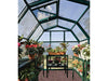 Image of Rion 6ft x 8ft EcoGrow 2 Twin-Wall Greenhouse - HG7008 - interior view with plants