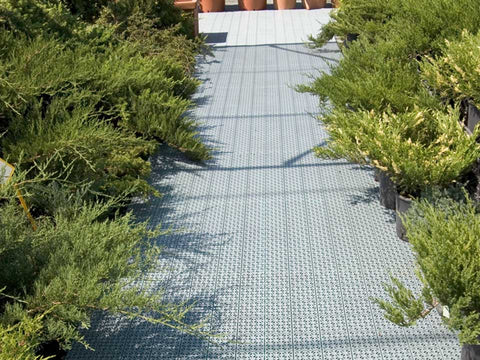 Riverstone Flooring Panels - Used on a garden pathwalk