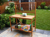 Image of Foldable Potting Bench in the garden