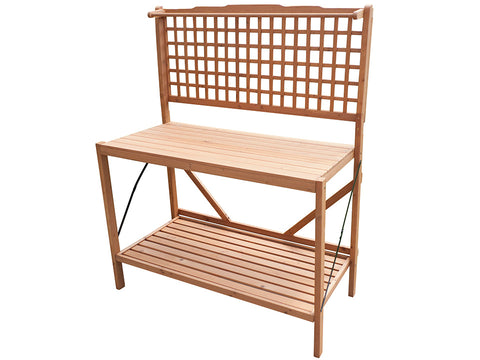 Foldable Potting Bench with white background