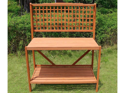 Image of Foldable Potting Bench - front view