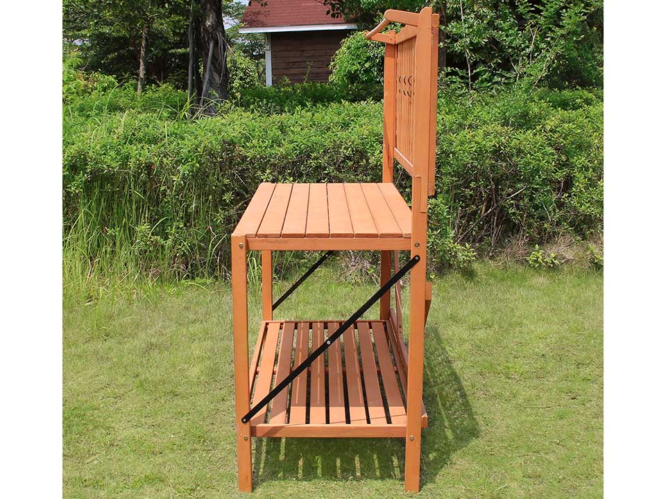 Foldable Potting Bench - side view