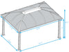 Image of Paragon Cambridge Hard Top Gazebo 12ft x 16ft Dimensions