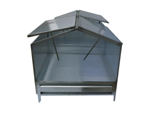 Image of Two attached Delta Park Gable Roof Cold Frame with slightly opened roof panels