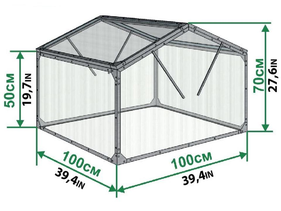 Dimensions of Delta Park Gable Roof Cold Frame