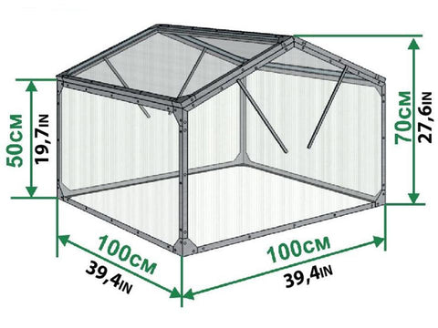 Image of Dimensions of Delta Park Gable Roof Cold Frame