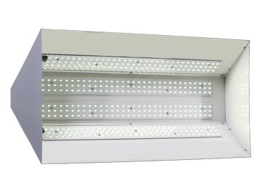 Bottom of the GENESIS LED Powered Grow Light System GL600 showing the light bulbs - white background