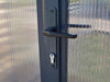 Image of Palram Glory 8ft x 20ft Hobby Greenhouse HG5620 - lockable door handle