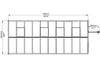 Image of Palram Glory 8ft x 20ft Hobby Greenhouse HG5620 - top view of framework with dimensions