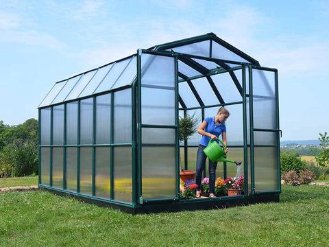 Rion Grand Gardener 2 Twin-Wall 8ft x 12ft Greenhouse HG7212 - full view - in a garden