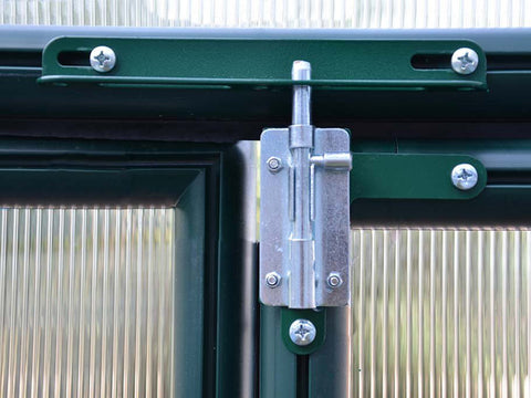 Rion Prestige 2 Twin Wall 8ft x 20ft Greenhouse HG7320 - secure door lock