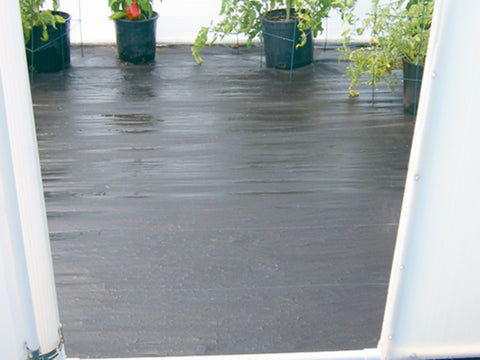 Image of Solexx Greenhouse Flooring in a greenhouse