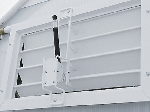 Installed Solar Opener for the Easy Flow Louver