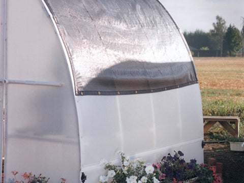 Image of Solexx Black Shade Cloth placed on a greenhouse