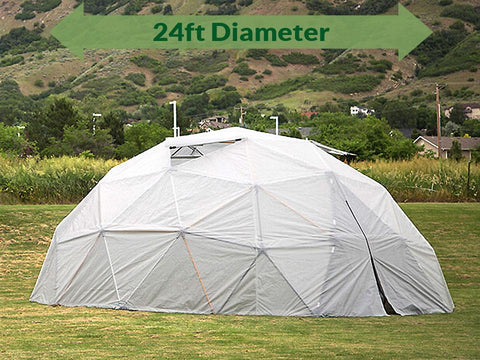 Harvest Right Geodesic Greenhouse Kit 24ft with door closed